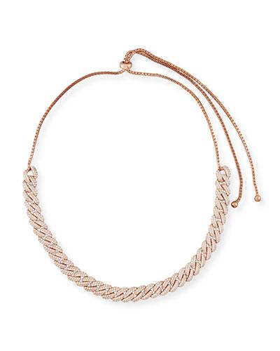 Armure Pavé Crystal Curb Chain Necklace