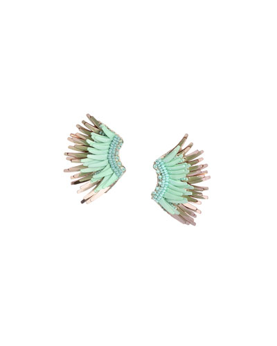 Mini Madeline Statement Earrings, Green