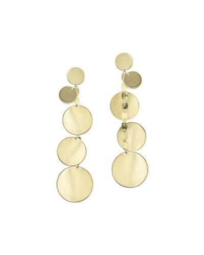 Five-Disc Linear Drop Earrings