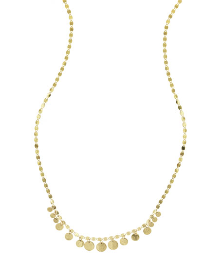 Fifteen Mini Disc Chain Choker Necklace, Gold