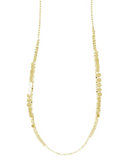 LANA Nude Disc Fringe Long Necklace, 30