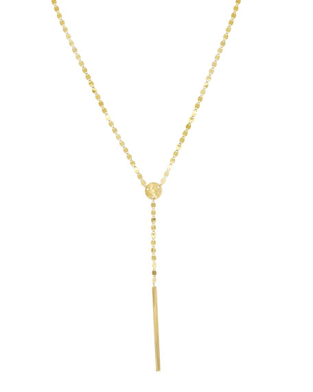 LANA Nude Bar Lariat Necklace, 21