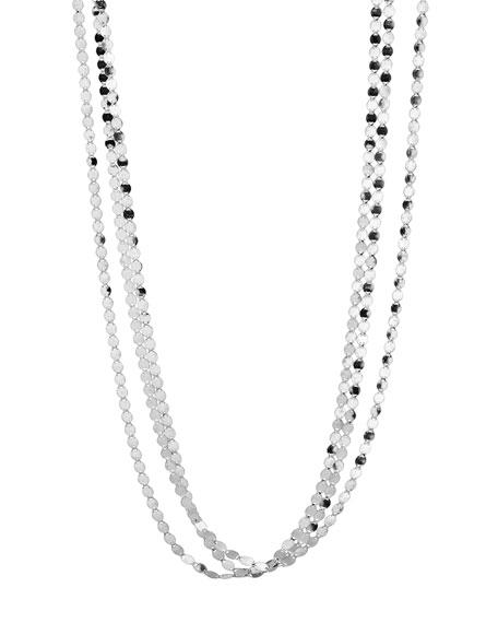 "Short Nude Three-Strand Necklace, 16"""