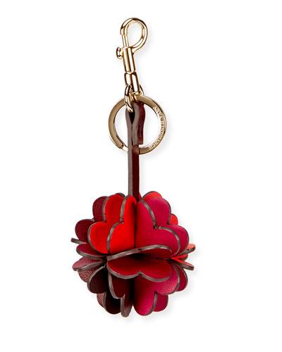 Folded Heart Leather Key Chain