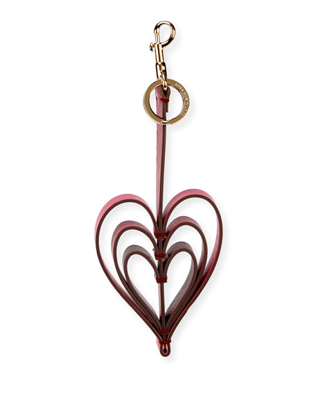 Tassel Heart Leather Key Chain