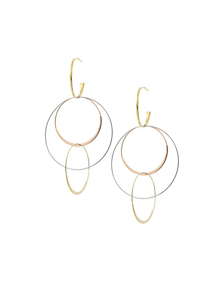 LANA Large Flat Bond Link Hoop Earrings in