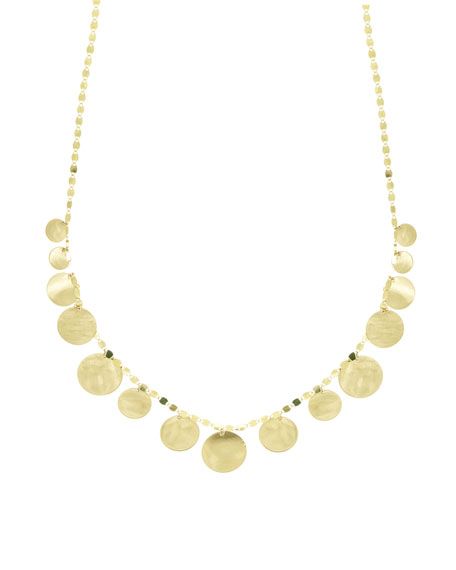 Small Disc Fringe Necklace