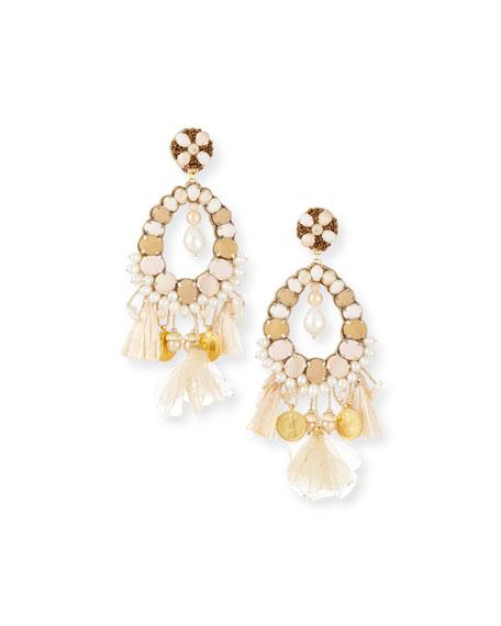 Ranjana Khan Beaded Charm Clip-On Earrings vpCalmZ2