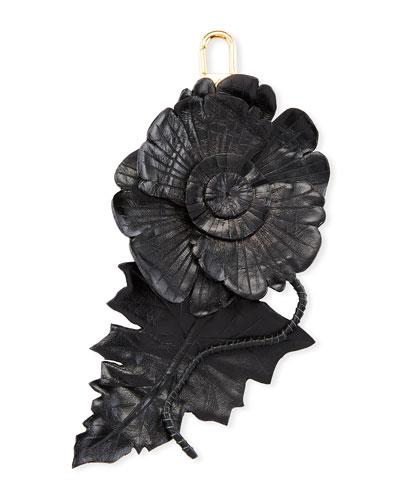 Leather Flower Charm for Handbag