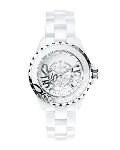 J12 White Graffiti 38mm Watch