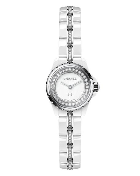 J12 XS White Ceramic Watch with Diamonds