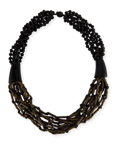 Multi-Strand Beaded Acai Necklace