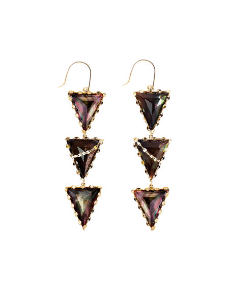 LANA Mystiq Tri-Spike Earrings