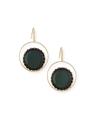 Midnight Inset Doublet Hoop Earrings