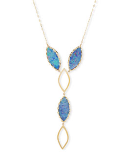 Casino 14K Gold & Boulder Opal Y-Drop Necklace