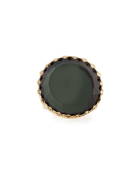 LANA 14k Midnight Circle Ring, Size 7