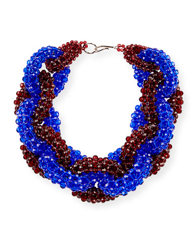Beaded Two-Tone Link Necklace