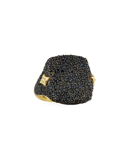 Old World Black Sapphire Signet Ring