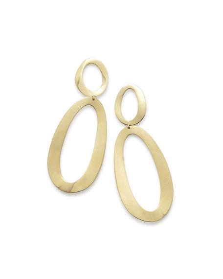 Cherish 18K Gold Large Snowman Earrings