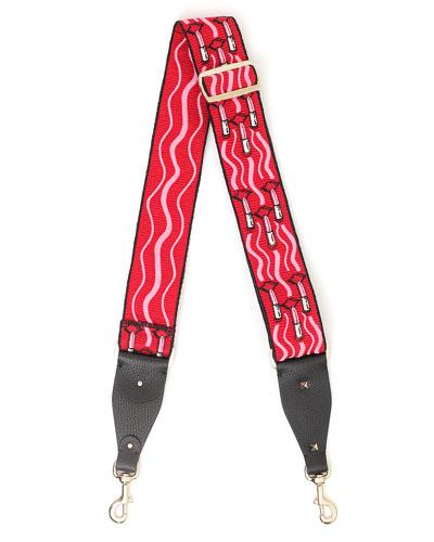 Guitar Rockstud Lipstick Shoulder Strap for Handbag