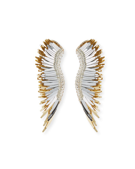 MIGNONNE GAVIGAN Madeline Beaded Statement Earrings in Gold/Silver