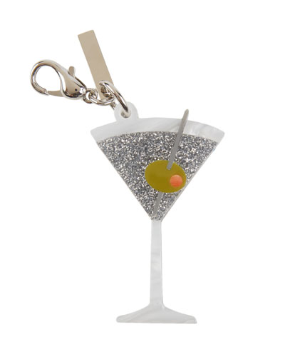 Martini Glass Bag Charm