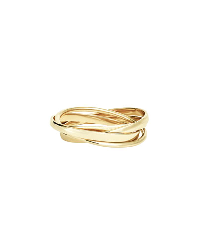 Small Staking Ring Set in 14K Gold, Size 7