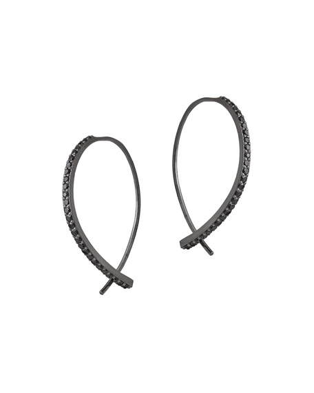LANA Reckless Mini Hooked on Hoops 14K Black