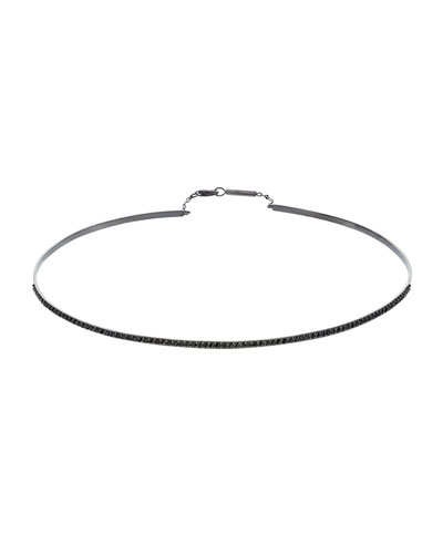 Reckless 14K Black Gold Choker with Black Diamonds