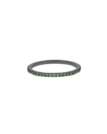 LANA Electric 14K Black Gold Stacking Ring with