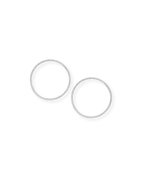 Fallon Cheekbone Pavé Crystal Hoop Earrings