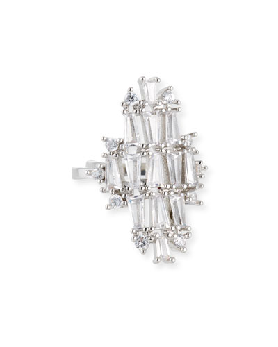 Monarch Deco Vertical Crystal Ring