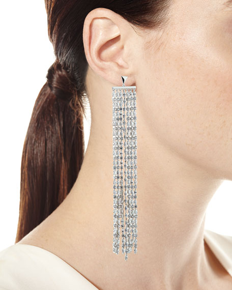 Marquis Crystal Waterfall Earrings