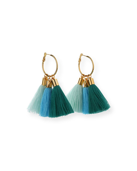 Mignonne Gavigan Triple Lily Tassel Earrings