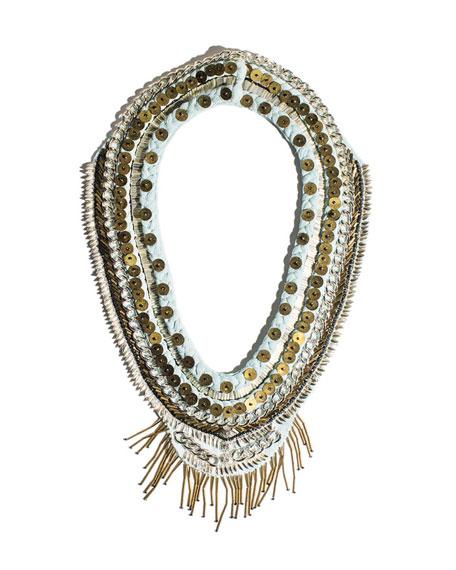 Layne Beaded Chiffon Scarf Necklace