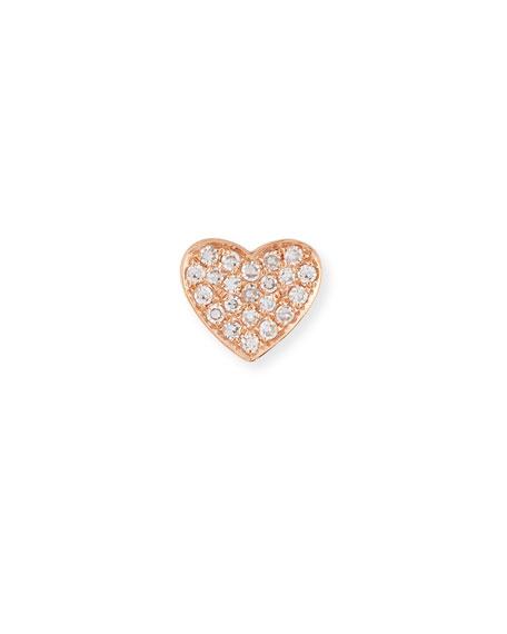 Diamond Heart Single Stud Earring
