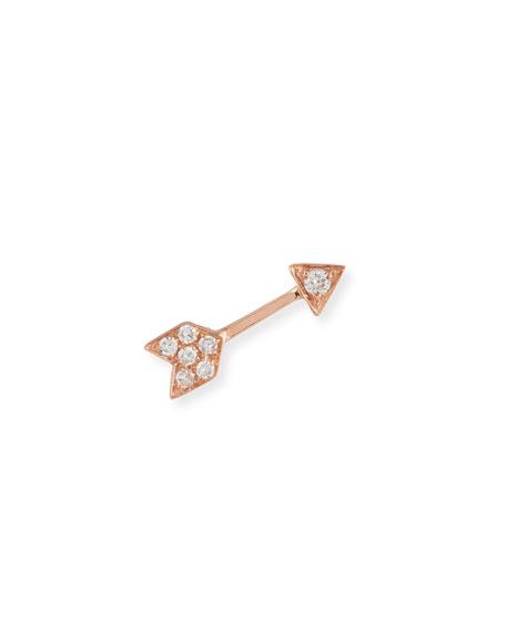 Mini Diamond Arrow Single Stud Earring