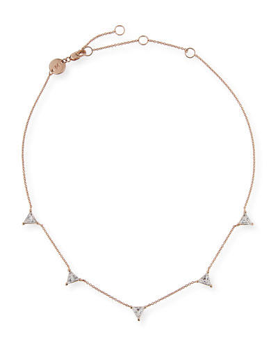 Luz Trillion-Cut White Sapphire Necklace