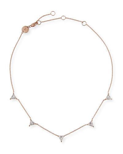 Luz Trillion-Cut White Sapphire Necklace