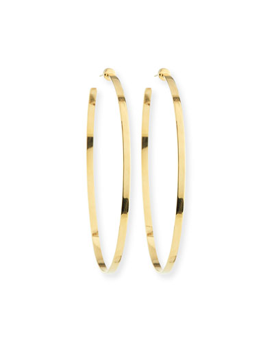 Large Hoop Earrings in 18K Gold Plate