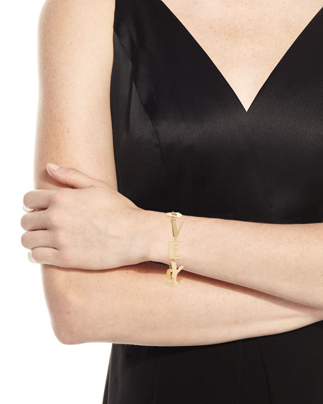 Love You Bracelet in 18K Gold Plate