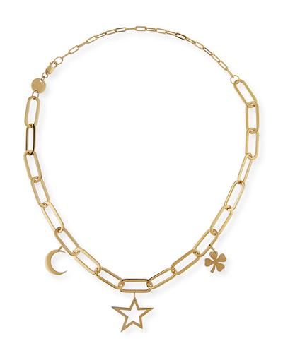 Margarita Chunky Chain Charm Necklace