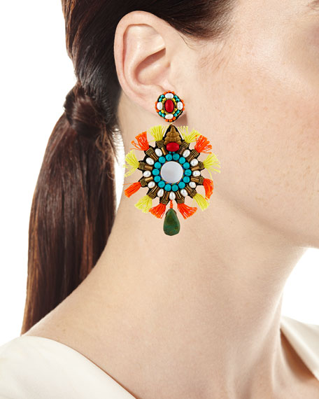 Isabel Tassel Statement Clip-On Earrings