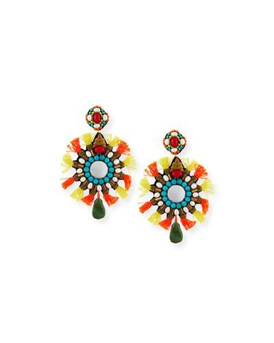 Isabel Tassel Statement Clip-On Earrings