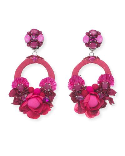Posie Beaded Statement Clip-On Earrings