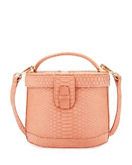 Jenny Python Top-Handle Bag