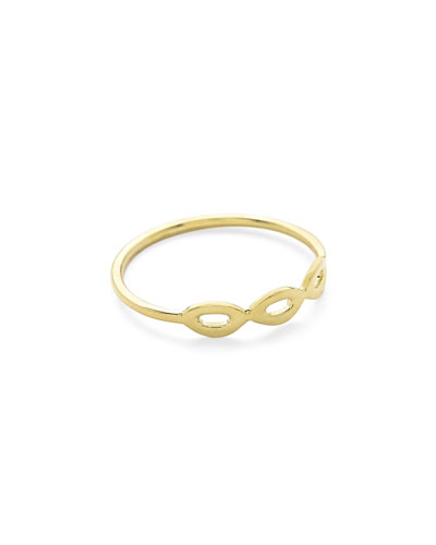Cherish Three-Link 18K Gold Ring