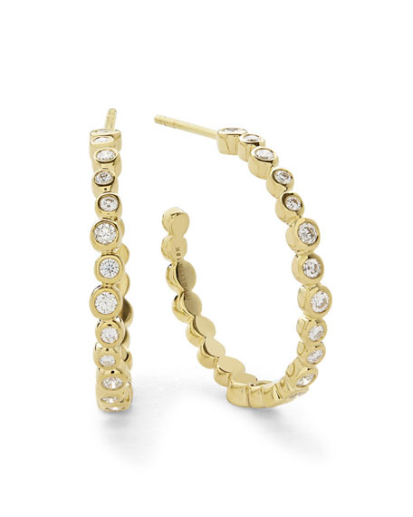 Ippolita Stardust Medium Hoop Earrings in 18K Gold