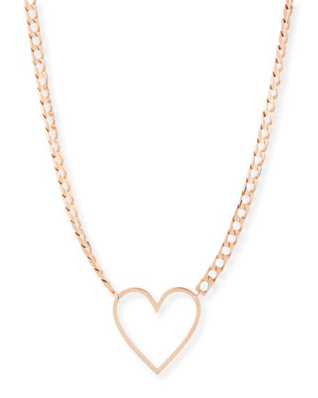 18k Yolo Heart Necklace
