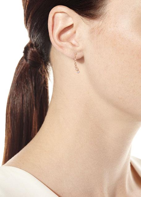 14K Gold & Diamond Bezel Climber Earring - Right